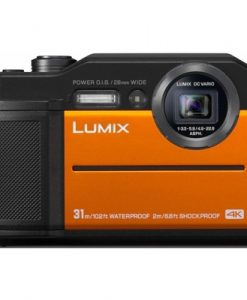 Panasonic - 20MP LUMIX FT7 Rugged Digital Still Camera - Orange
