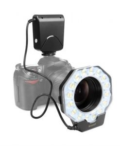 SHOOT XT-356 LED Macro Ring Flash Light Speedlite Fill-in Light