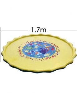 1.2m PVC Garden Sprinkle Splash Play Mat Inflatable Water Spray Mats Kids Baby Pool Pad Summer Fun Beach Outdoor Mini Pool