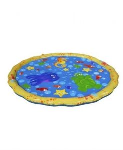 1m PVC Garden Sprinkle Splash Play Mat Inflatable Water Spray Mats Kids Baby Pool Pad Summer Fun Beach Outdoor Mini Pool