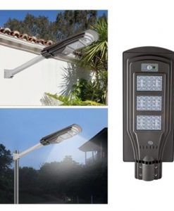 6V 20W LED Solar Powered Wall Street Light PIR Motion Outdoor Garden Lamp
