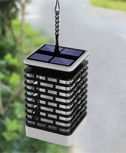 Christmas Solar Flame Lantern Lamp Outdoor Waterproof LED Light