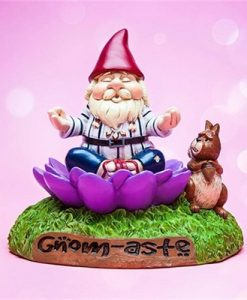Gnome-astae Meditating Garden Gnome