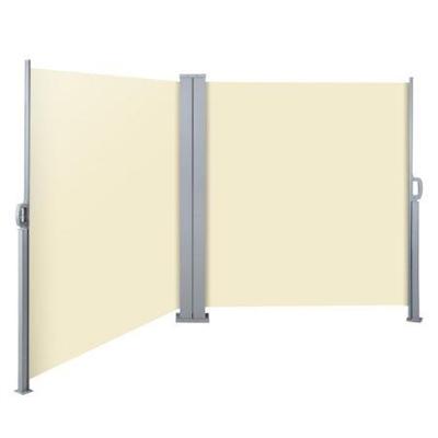 Instahut 1.8X6M Retractable Side Awning Garden Patio Shade Screen Panel Beige