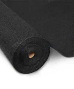 Instahut 50% UV Sun Shade Cloth Shadecloth Sail Roll Mesh Garden Outdoor 3.66x10m Black