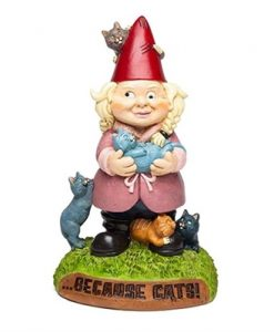 The Crazy Cat Lady Garden Gnome | Because... CATS!!!