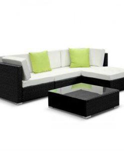 5pcs Outdoor Furniture Sofa Set Wicker Garden Patio Pool Lounge