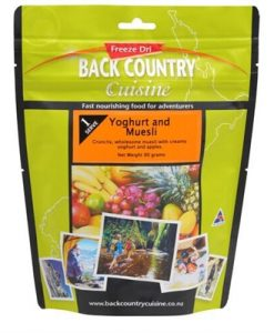 Back Country Cuisine Yoghurt & Muesli Freeze Dri Food - 1 Serve