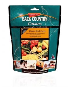 Backcountry Classic Beef Curry Freeze Dri Food - 5 Serve