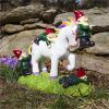 Funny Novelty Unicorn Attack Garden Gnome Decor