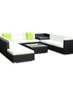 Gardeon 11PC Outdoor Furniture Sofa Set Wicker Garden Patio Lounge