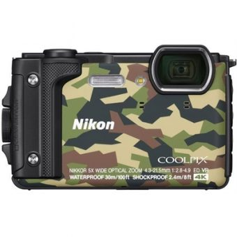 Nikon Coolpix W300 Camouflage Digital Compact Camera w/Black Silicone Jacket