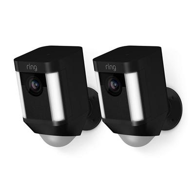 Ring Spotlight Wireless Security Camera 2 Pack (Black)