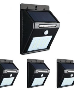 4X 20 LED Solar Powered Wall Motion Sensor Light Outdoor Garden Security Lamp