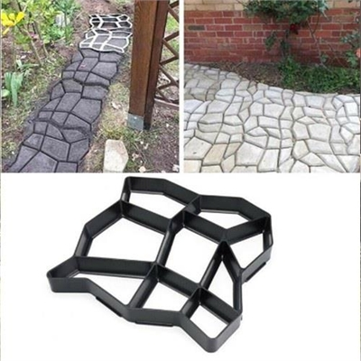 Garden Pavement DIY Plastics Mold Path Maker Molds Paving Cement Brick Molds Stone Road Concrete Roads Manually Paving Tools