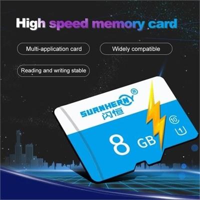 High Speed Memory TF Card HD Camera Storage Cards Blue&8GB