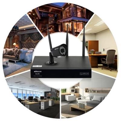 KKmoon 4 Channel HD 720P Wireless WiFi NVR Camera System