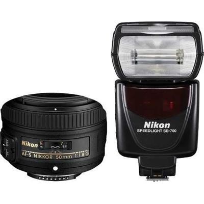 Nikon 50mm Portrait Kit inc.AF-S 50mm f/1.8G & SB-700 Flash Kit
