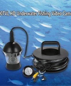 20M Underwater Fishing Camera Waterproof 700TVL HD Color Video Camera Fish Finder 360 Degree Rotating Fishing Camera Fishfinder with Remote Control