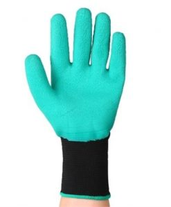 Garden Genie Gloves Waterproof Garden Gloves with Claw for Digging Planting Universally Free Size Green