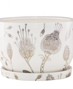 Decorative Plant Pot By Angus & Celeste | Silver Garden
