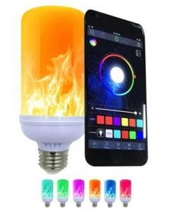 E27 Flame-Effect Fire Bulb Home Decorative Light Atmosphere Lighting Vintage Flaming Lamp Controlled by Phone