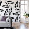 We're Leafing - Garden Love | Eco Wallpaper | Black | Amba Florette
