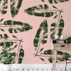 We're Leafing - Garden Love | Eco Wallpaper | Blush Pink | Amba Florette