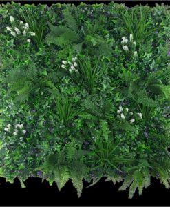 White Flowering Jungle Vertical Garden   Green Wall UV Resistant 1m X 1m