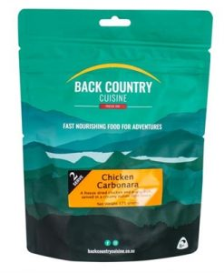 Back Country Cuisine Chicken Carbonara Double Freeze Dri Food - 2 Serve