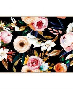 Black Garden   Framed Canvas Art Print
