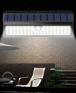 BRELONG BR-0120 62 LED Solar Wall Light Outdoor IR Motion Human Body Sensor 650lm High Brightness Garden Lamp