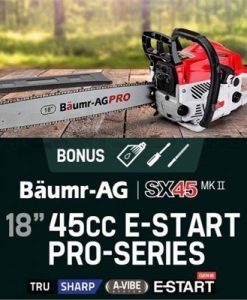 """Baumr-AG 45cc 18"""" Petrol Chainsaw Pro-Series with Easy Start SX45 Mk II"""