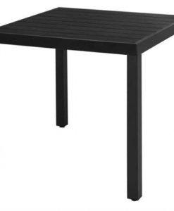 Garden Dining Table WPC Aluminium 80x80x74 cm Black