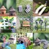 LATEST Miniature Fairy Garden Ornament Decor Pot DIY Craft Accessories Dollhouse 10pcs Moss Flower