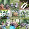 LATEST Miniature Fairy Garden Ornament Decor Pot DIY Craft Accessories Dollhouse Gray straight stairs