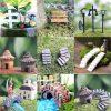 LATEST Miniature Fairy Garden Ornament Decor Pot DIY Craft Accessories Dollhouse yellow brick arch bridge