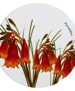 Maxwell & Williams Royal Botanic Garden Ceramic Round Trivet, Christmas Bells