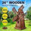 Wooden Garden Windmill Outdoor Decoration Decorative Backyard Windmill 88cm